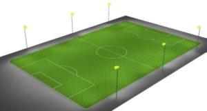 Fussballplatz LED Beleuchtung